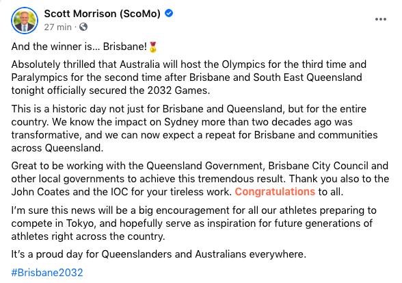Brisbane Jeux Olympiques